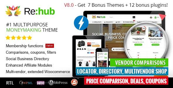 REHub – Price Comparison, Multi Vendor Marketplace, Affiliate Marketing, Community Theme