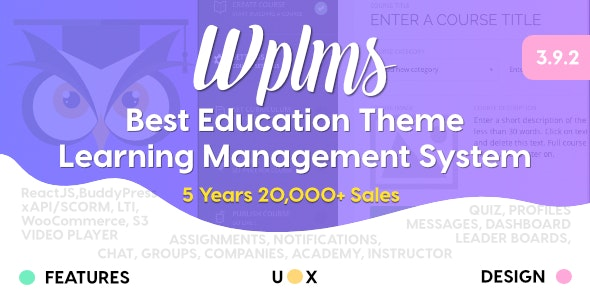 WPLMS Learning Management System for WordPress – Education Theme