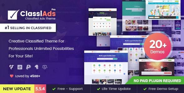 Classiads – Classified Ads WordPress Theme