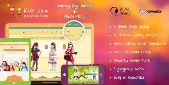 Kids Zone – Children & Kids WordPress Theme