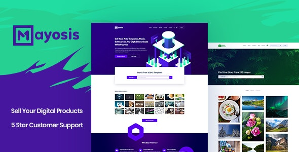 Mayosis – Digital Marketplace WordPress Theme
