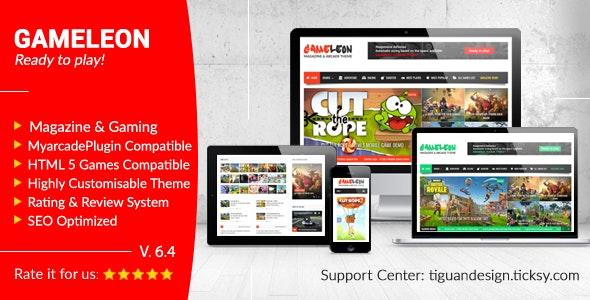 Gameleon – WordPress Arcade Theme – News Magazine