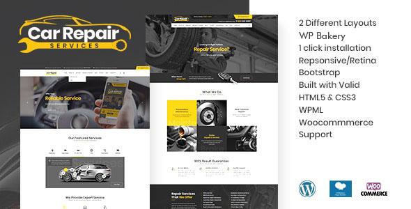 Car Repair Services & Auto Mechanic WordPress Theme