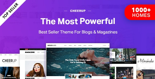 CheerUp – Blog & Magazine & Travel WordPress