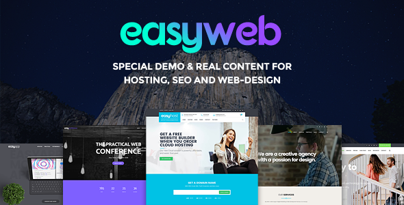 EasyWeb – WP Theme For Hosting, SEO and Web-design Agencies | Business