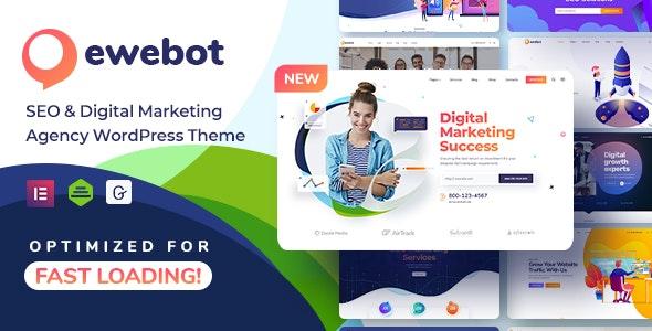 Ewebot – SEO Marketing & Digital Agency Landingpage