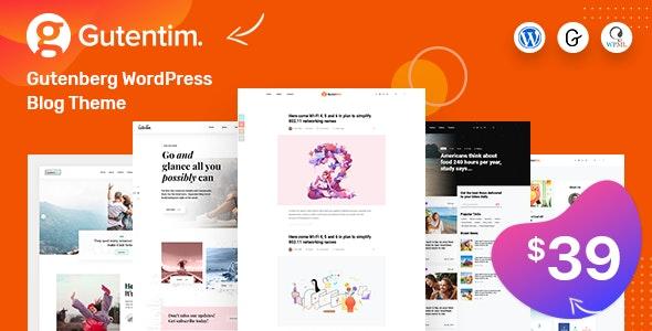 Gutentim – Modern Gutenberg WordPress Blog Theme