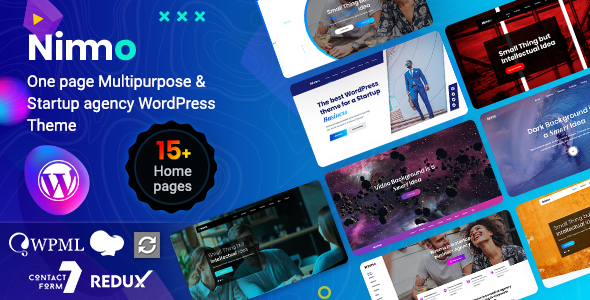 Nimmo – One page WordPress Theme