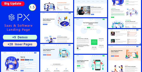 PXaas – App & Software Landing Page Theme