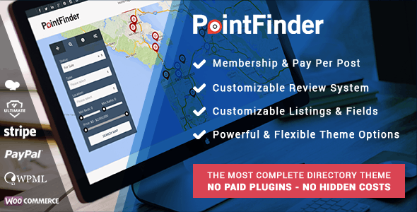 Point Finder – Directory & Listing WordPress Theme
