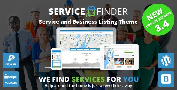 Service Finder – Provider and Business Listing WordPress Theme