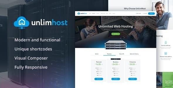 UnlimHost – Web Hosting & Internet Technology WordPress Theme