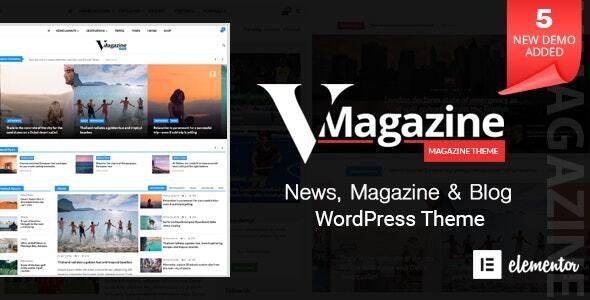 Vmagazine – Blog, NewsPaper, Magazine WordPress Themes