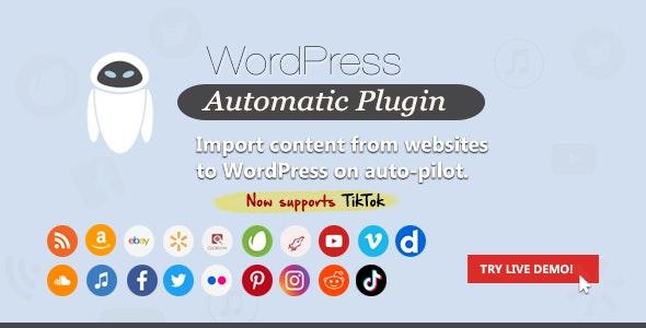 WordPress Automatic Plugin – AGC – Autoblog – Auto Generate Content