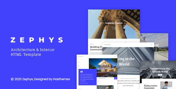 Zephys – Architecture – Interior WordPress Theme