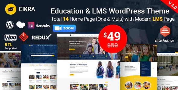 Eikra – Education WordPress Theme
