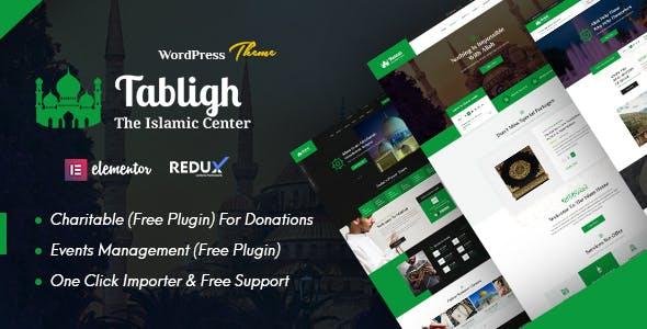 Tabligh – Islamic Institute & Mosque – Masjid WordPress Theme