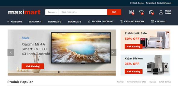 Toko Online Siap Pakai – Woocommerce – 3 Variasi Home – Ongkir Otomatis – Whatsapp Chat