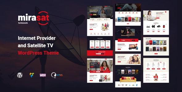 Mirasat – Internet Provider and Satellite TV WordPress Theme